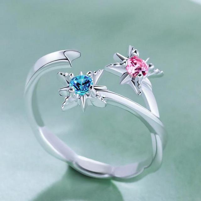 Makoto Shinkai Anime Your Name Tachibana Taki Miyamizu Mitsuha Comet Ring 925 Silver Cos Gift Lovers' Jewelry