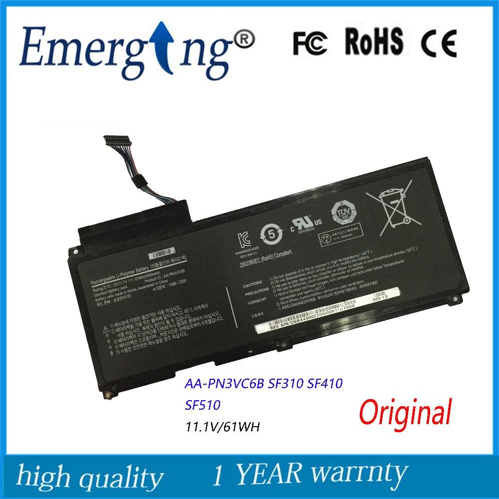11.1V 61Wh New Original  Laptop Battery For Samsung QX410-J01 AA-PN3VC6B QX310 QX412 BA43-00270A
