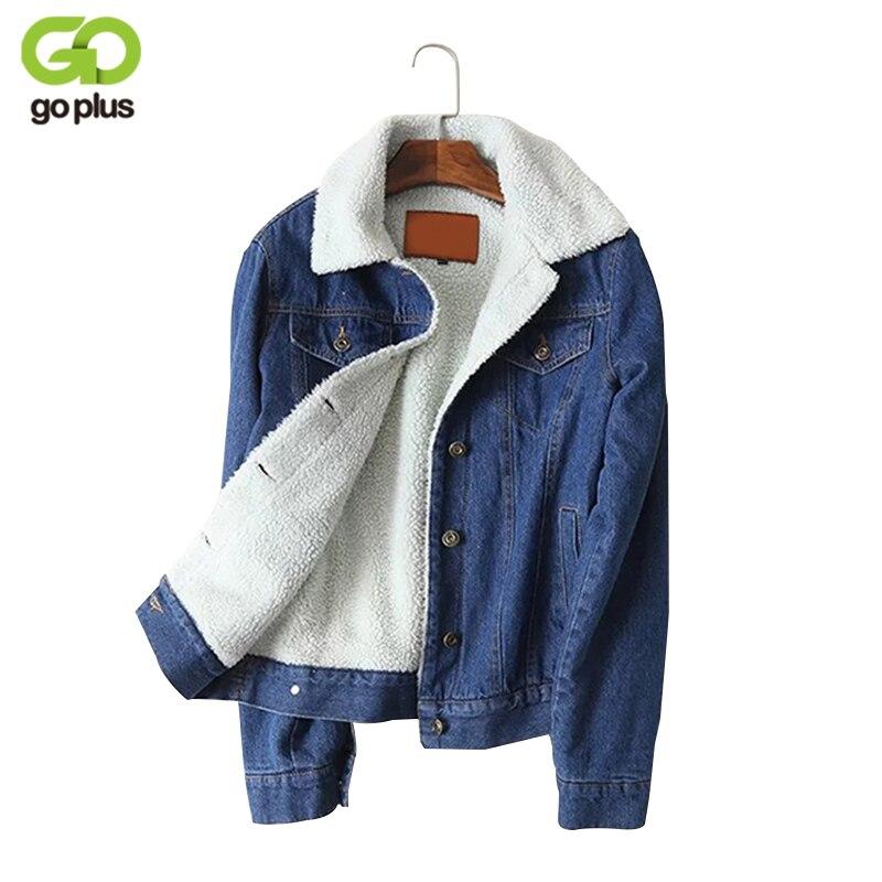 GOPLUS теплая джинсовая куртка из овечьей шерсти Жан карманы пальто одежда с длинным рукавом Весна Осень-зима, верхняя одежда C4828