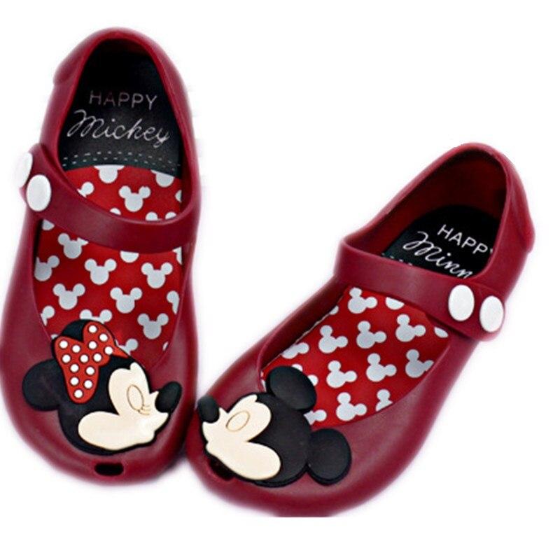 Горячие Мини 2017 Микки и Минни детей прозрачная обувь для маленьких мальчиков сандалии для девочек мягкий комфорт малышей пляжные сандалии ...