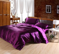 bright colored Luxurious silk cotton queen size bed linens bedding set home textile 4 pieces duvet/quilt/comforter covers sheets
