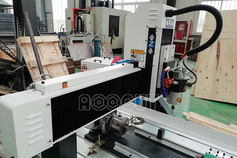 Hot sale 4th rotary axis mini cnc router and mini desktop 6090 cnc aoocut at a low price 4