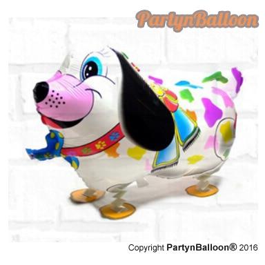 1PC Walking Dog Balloon Air Walker Pet Dog Balloon Animals Foil Balloon