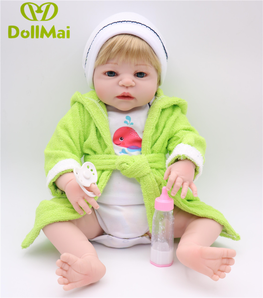 23 Full Silicone Reborn doll Baby Doll Toy Lifelike boy reborn baby model infant dolls baby Child play house bonecas for sale23 Full Silicone Reborn doll Baby Doll Toy Lifelike boy reborn baby model infant dolls baby Child play house bonecas for sale