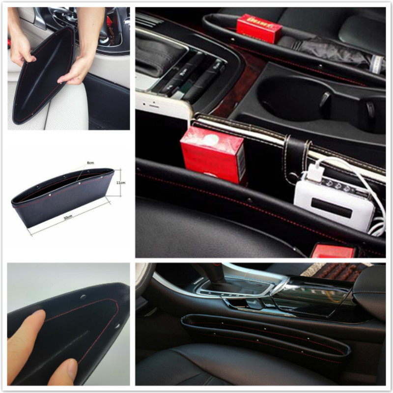 2x Car <font><b>Accessories</b></font> Seat Crevice Storage Box Bag For <font><b>Infiniti</b></font> QX56 I30 M35 FX37 QX4 QX60 FX50 M37 FX35 Q50 G35 QX70 FX G37 <font><b>Q30</b></font> image