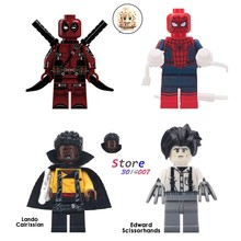 Single star wars Lando Cairissian Edward Scissorhands Spider Man Deadpool รูปชุดอาคารบล็อกของเล่นเด็(China)