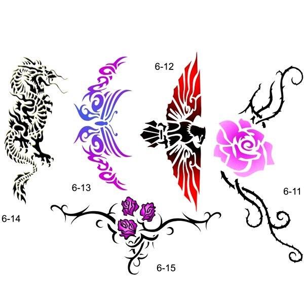 Aliexpress Buy Body art Temporary Airbrush Tattoo Stencil – Tattoo Template