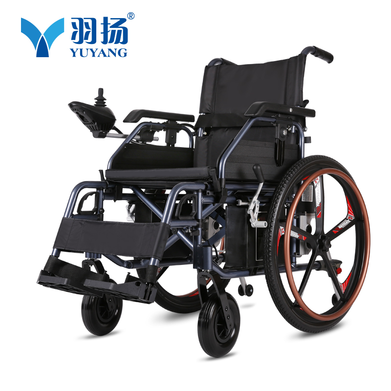 Handicapped equipment elderly wheel chair motor wide wheels lightweight folding electric font b wheelchair b font