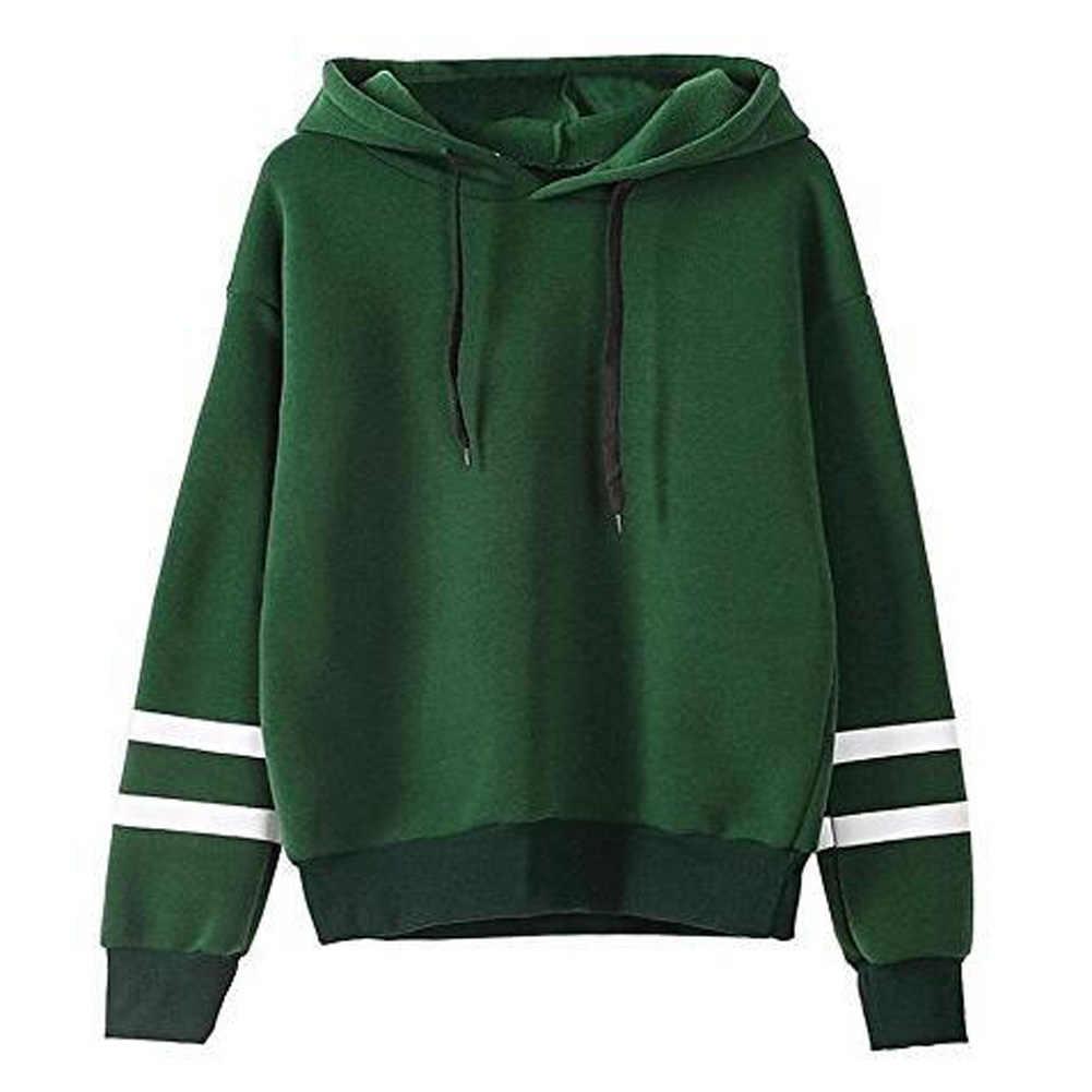 c65b88aa ... Winter Women Long Sleeve Hoodie Sweatshirt Jumper Hooded Pullover Tops  Blouse Girl Splicing Velvet Hooded O ...