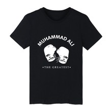 White Cotton MUHAMMAD ALI Tshirt ood looking and Durable THE REATEST T-shirt Men Street Wear with High quality
