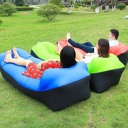 Faul Bett Schlafsack Luft Sofa Schnelle Aufblasbare Luft Lounge Schlaf Banana Strand Luft sofa Bett Laybag Laien Bett für outdoor Camping