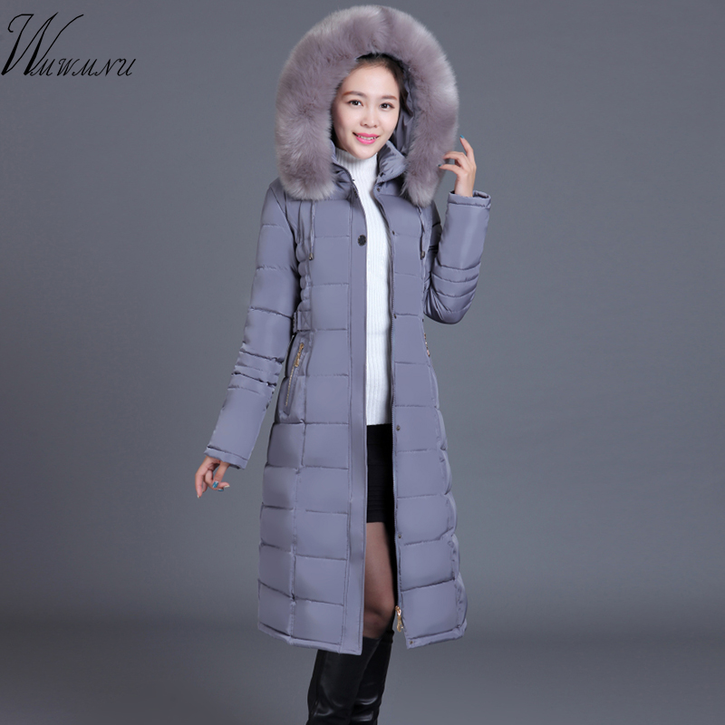 wmwmnu winter fashion warm thicken cotton parkas coat women plus size slim coat dames jas High