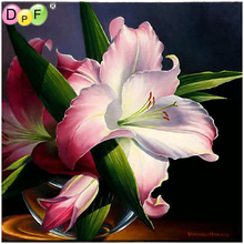 DPF Diamond embroidery Flowers Painting Cross Stitch Needlework home decor crafts a gift Mosaic