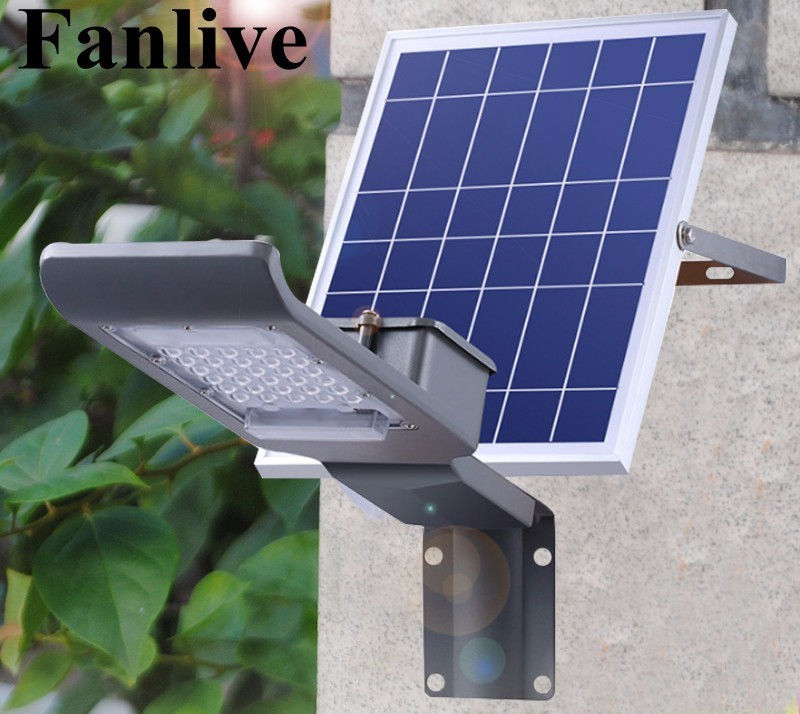 6pcs/lot 20W 30W Solar Power LED Street Light Solar Panel +led Street Lamp Solar LED Garden Road Pard Light Outdoor Lighting