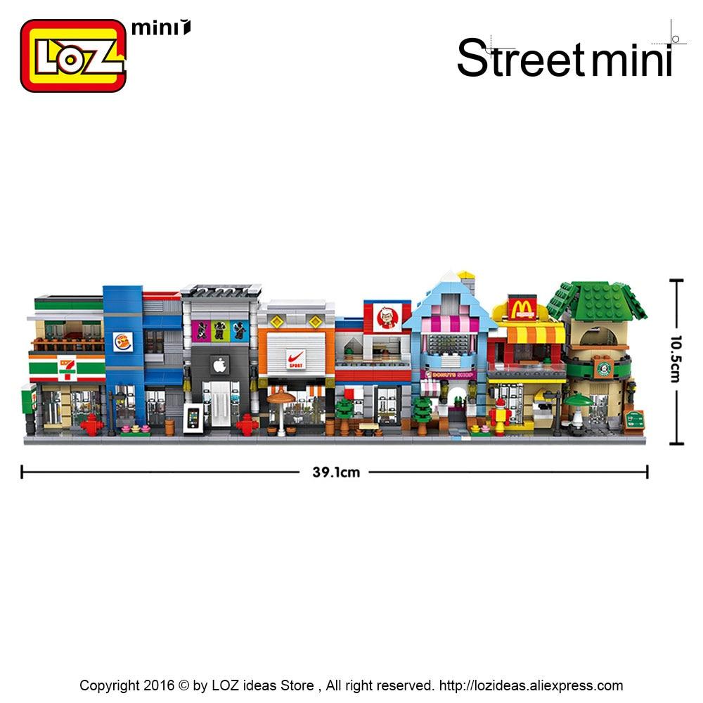 LOZ Blocks City Mini Street Bricks Set Arkitektur Byggstenar - Byggklossar och byggleksaker - Foto 4
