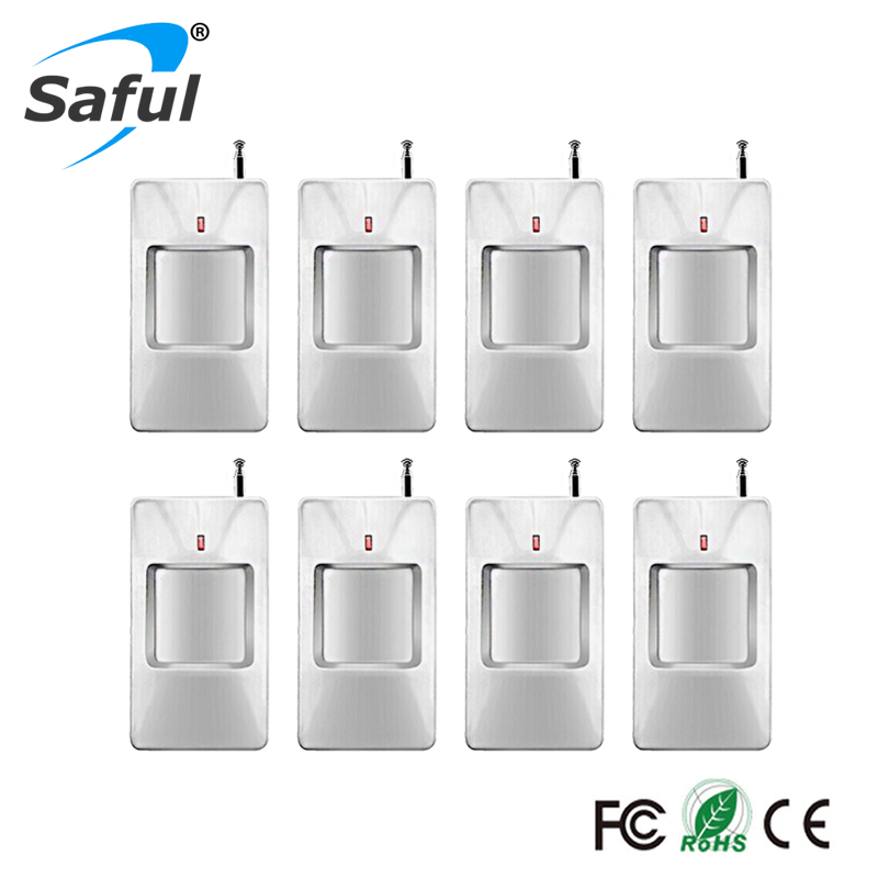 315/433Mhz 8pcs/lot wireless pir infrared motion detector For Wireless GSM/PSTN Auto Dial Home Security for gsm alarm system 315 433mhz wireless pir sensor motion detector for wireless gsm pstn auto dial home security alarm system with battery