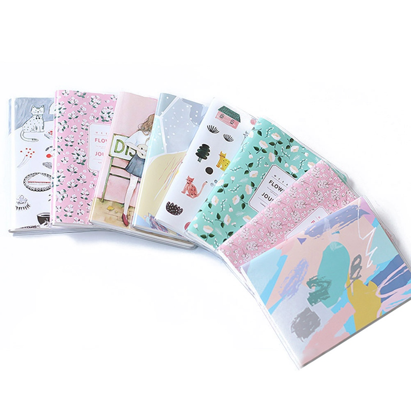 Cute Fresh A6 Weekly Plan Notebook Waterproof PVC Cover Filofax Creative Inner Pages Planner Organizer Diary plan
