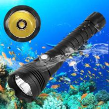 XHP70.2 LED Diving Flashlight Underwater XHP70 Torch Linterna Waterproof Lamp Yellow Light 26650 Battery +Charger diving video d34vr 5000 lumen underwater flashlight 4xcree xml2 led white light linterna buceo video 26650 scuba dive torch lamp
