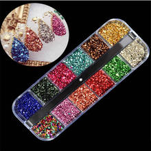 цена на Multi Size Glass Rhinestones For Nail Mixed Colors AB Crystal Strass 3D Charm Gems DIY Nail Art Decorations Manicure Accessories