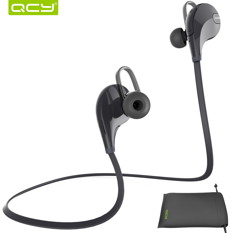 QCY combination sets QY7 sports wireless bluetooth 4 1 EDR stereo earphones headset and portable pouch