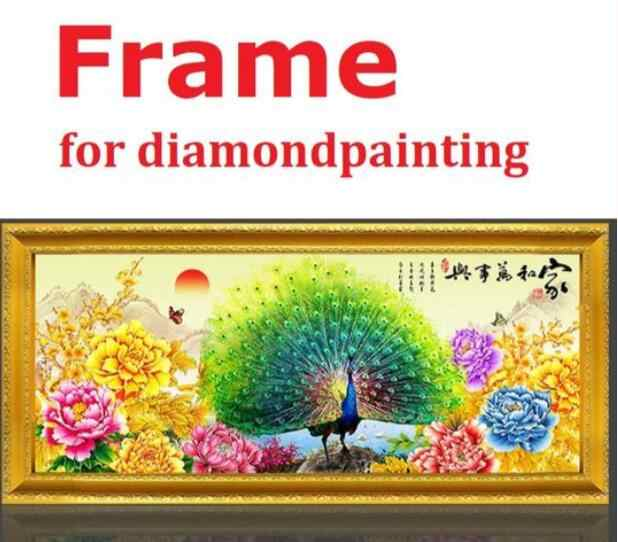 e8b60041d7 diy wooden frame for diamond painting gold solid wood frames customize diamond  painting accessories assemble by