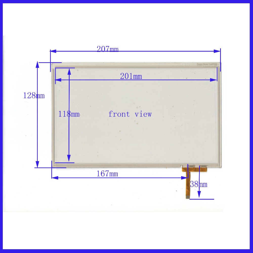ZhiYuSun POST   Touch Screen   207mm*128mm 9.0inch  glass  for  industry applications Dream Novia TrioRT089 zhiyusun new 10 4 inch touch screen 239 189 for industry applications 239mm 189mm 8 lins 47f8104025 r13 commercial use