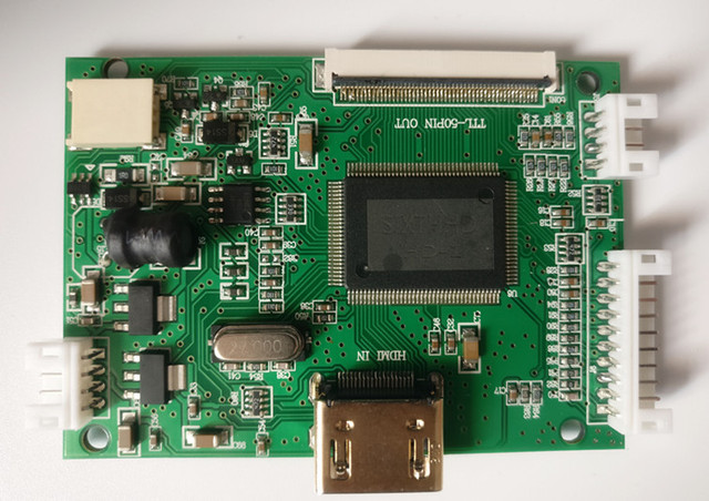 Monitor LCD TFT de pantalla de 9 pulgadas 1024*600 con placa controladora remota HDMI para Orange Raspberry Pi 3