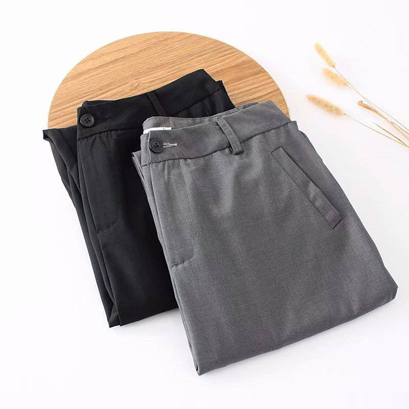 F42 Autumn Plus Size Women Clothing Ankle-length Pants 4XL Casual Fashion Loose straight Pants 8802 7