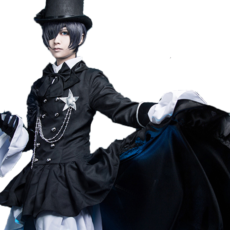 ANIME Kuroshitsuji COS Black Butlerl Ciel Phantomhive Cosplay clothing