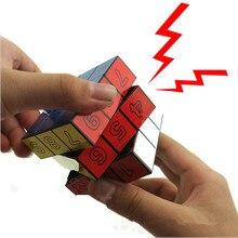 1 шт. Электрический шок куб игрушки шутки остроты шалости Смешные хитрые игрушки Электрический шок для взрослых страшная Игрушка антистресс