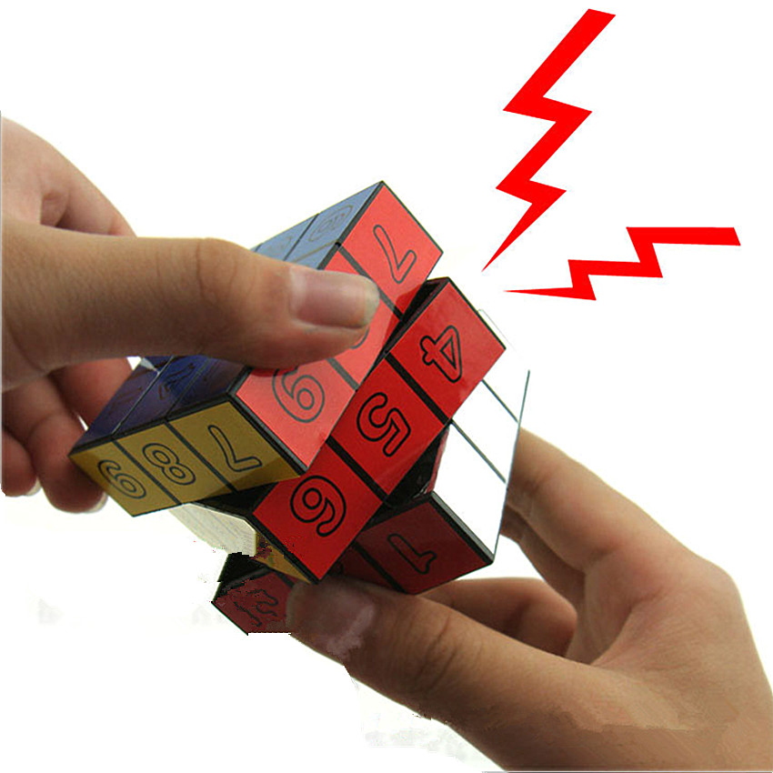 1Pcs Electric Shock Cube Toys Jokes Gags Pranks Funny Tricky Toys Electric Shock For Adults Scary Toy antistress(China)