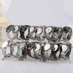 Image 5 - 1 סט חם אופנה ברור 2 tier להסרה שעון יד צמיד 16 תצוגת Rack Stand מחזיק תכשיטי תצוגה