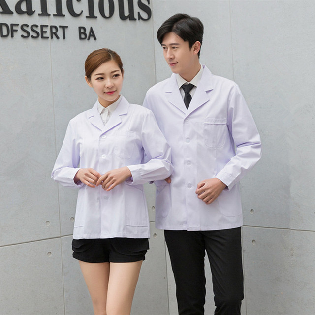 96fd8bb5bf Dentysta ubrania niebieski biały pielęgniarka mundury medyczne długi rękaw  Krótki rękaw mundury medyczne dental apteka kobiet