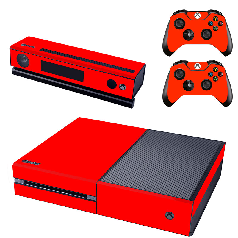 Red color Vinyl Skin Sticker Protector for Microsoft Xbox One and 2 controller skins Stickers for XBOXONE GSTM0075