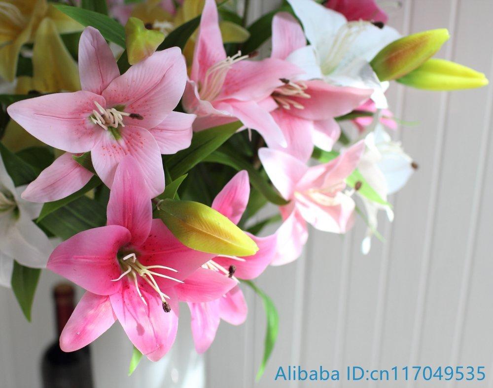 Aliexpress Buy 1 Pcs Beautiful Artificial Lily Bouquet Soft