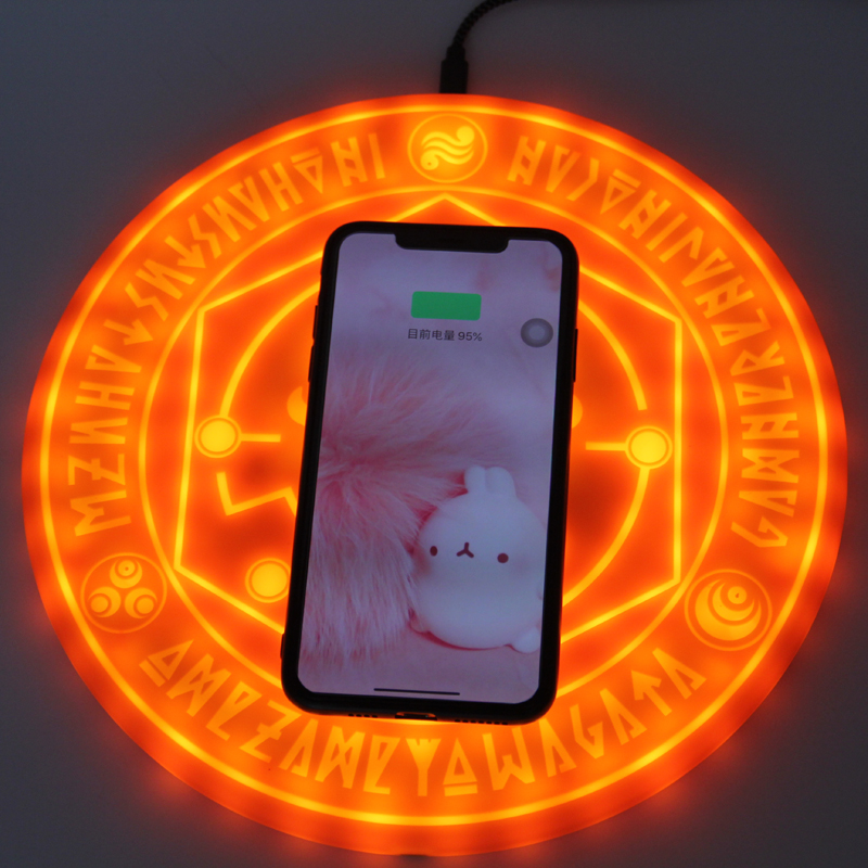 Fast Wireless Charger Magic Array Charger Qi Wireless Charging Pad Magic Circle Charge For iPhone X 8 Plus Samsung S8 S9 6