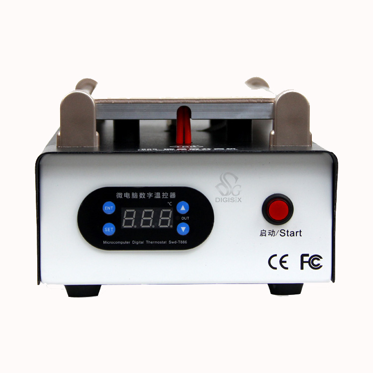 ФОТО FREE SHIPPING Newest Black 7 inch Lcd Separating TBK-988 new With Built-in Vacuum Pump Touch Screen Separator Machine