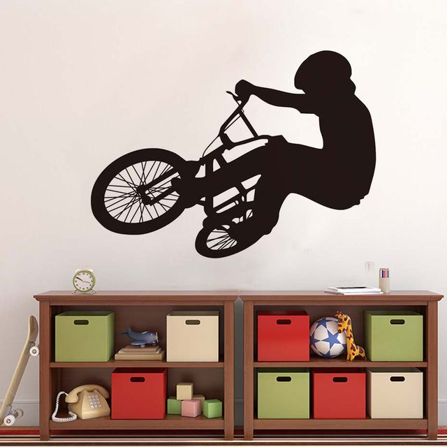 Online Shop Bike Player Silhouette Wall Stickers Cool Modelling ...
