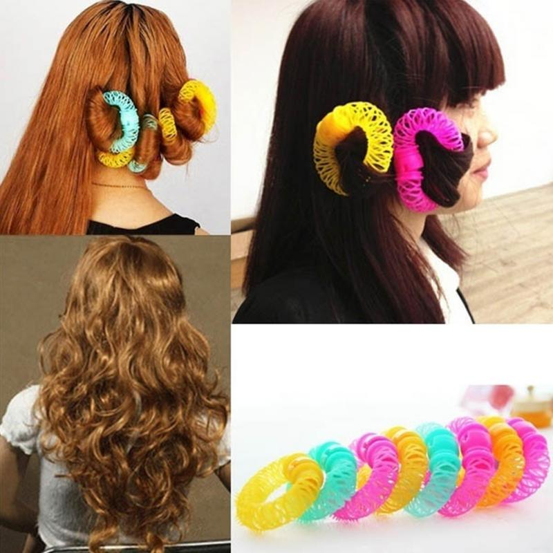 Fashion 8pcs Magic Hair Curler Spiral Curls Roller Donuts