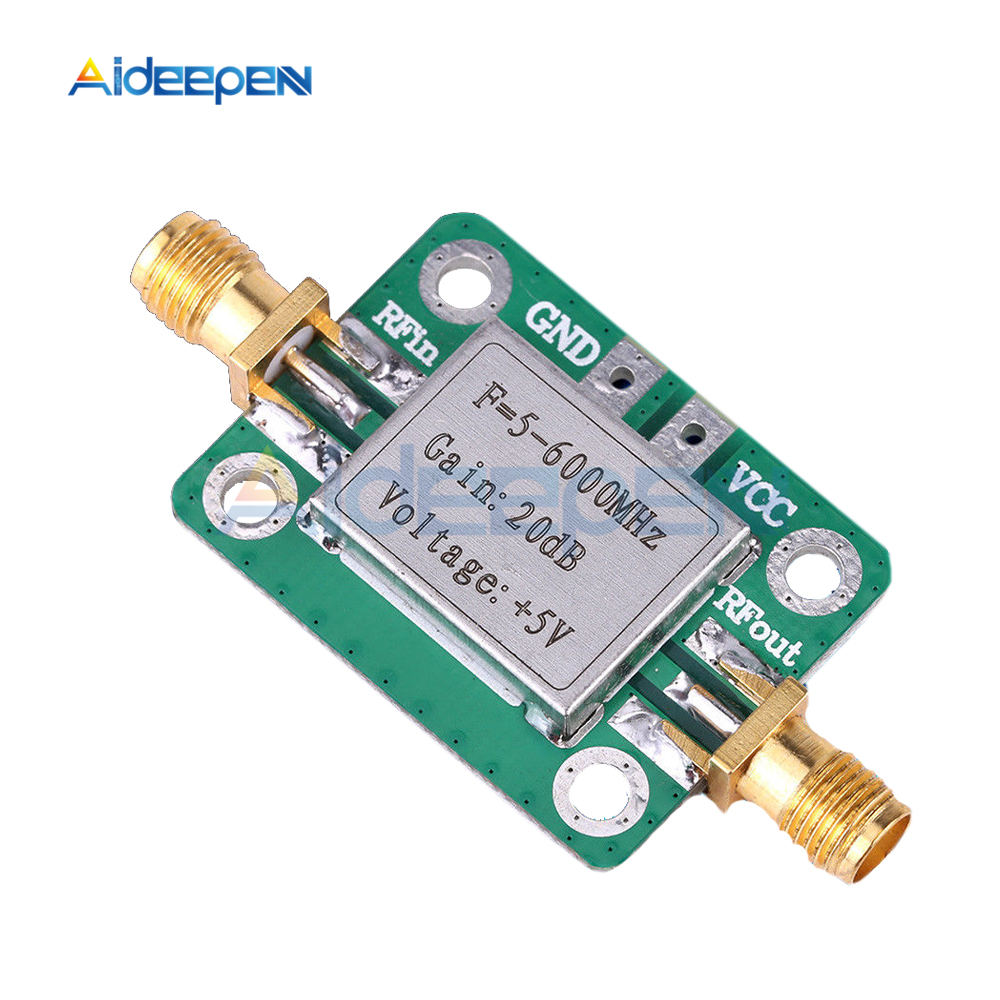 5-6000mhz 6GHz RF Broadband Signal Amplifier Power Amplifier Module Gain 20dB VFH UHF SHF Low Noise image