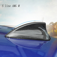 Car Styling Carbon fiber Antenna Shark Fin Style Roof Aerial Covers Stickers For BMW 3 Series G20 G28 Interior Auto Accessories