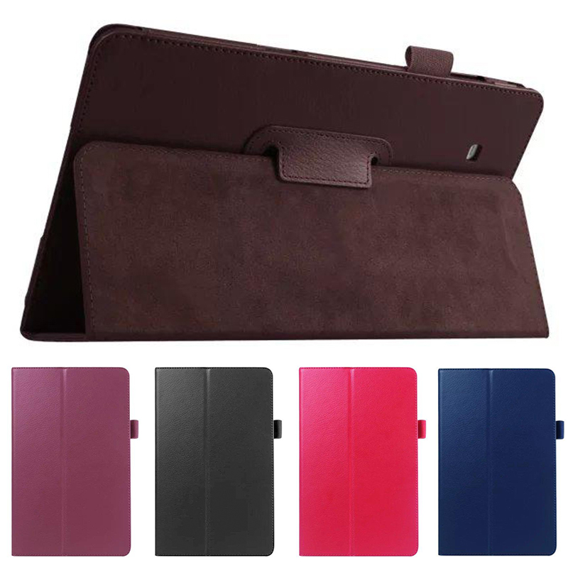 QianNiao 2016 New Fashion PU Leather Case for Samsung Galaxy Tab E 9.6 inch SM-T560 T561 Stand Tablet Smart Cover