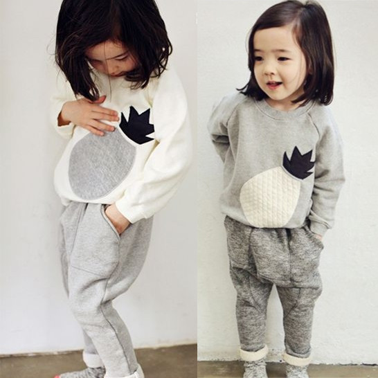 Free shipping children's clothing spring/autumn girl 100% cotton sweatshirt harem pants girl set twinset free shipping children s clothing spring autumn girl leisure flower pattern girl suit long sleeve sweatshirt pants set