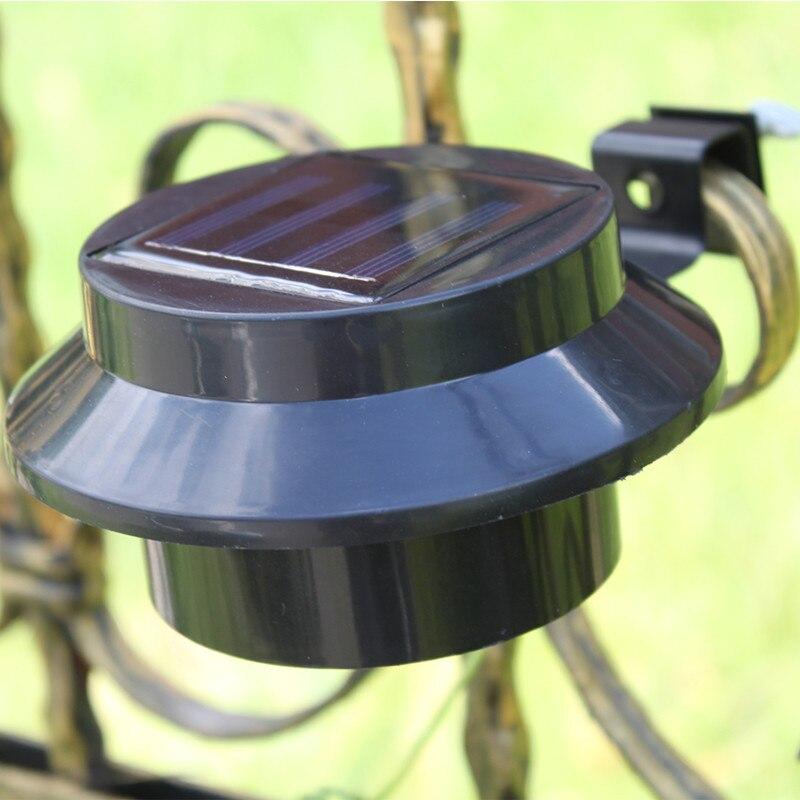 1 Stück Led Solar Zaun Licht Für Außen Beleuchtung Ip65 Wasserdicht Weiß Oder Schwarz Farbe Solar Led Waschbecken Licht Hohe Helligkeit
