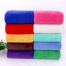 17 Colors Microfiber Fabric Bath Towel 140*70CM 310g Beach Supersoft Plain Gym Fast Drying Cloth Towels Bathroom For Adult