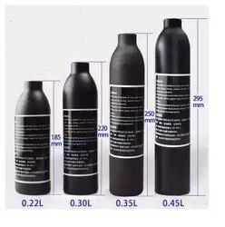 PCP Paintball Airforce Airforce HPA Cylinder butelka powietrza 0.2L 0.3L 0.35L 0.45L zbiornik 300bar 4500psi M18 * 1.5 gwint 6061 ze stopu aluminium