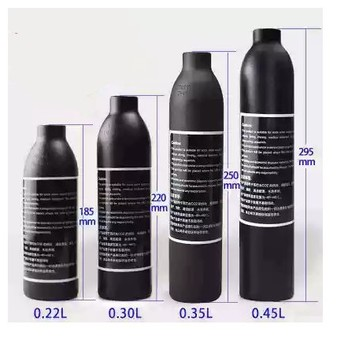PCP Paintball Airforce Airs HPA Cylinder Air Bottle 0.2L 0.3L 0.35L 0.45L Tank 300bar 4500psi M18*1.5 Thread 6061 aluminum alloy