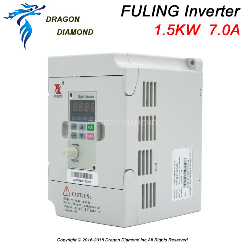 Fuling VFD Inverter 1.5KW Frequency Converter 3PH 220V/380V Output CNC Spindle motor speed Control VFD Converter Woodworking Machinery Parts     - title=