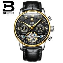 Switzerland Binger Men Sport watches Chronograph Date military Watch Man clock Top Brand Luxury Wristwatch Relogio Masculino