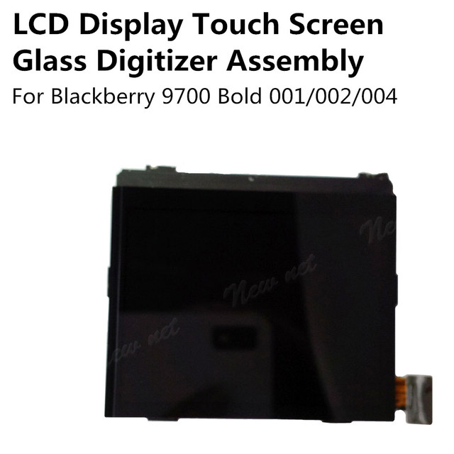 New LCD Display Touch Screen Glass Digitizer Assembly for Blackberry 9700 Bold 002 / 001 / 004 Replacement Parts Free Shipping